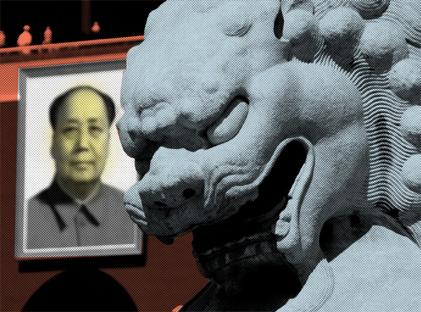 Dialog po niemiecku z chińskim smokiem