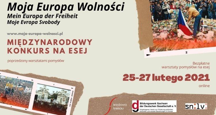 Moja Europa Wolności. Międzynarodowy konkurs na esej. Warsztaty online